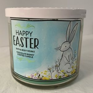 B&BW 3-wick Candle Chocolate Bunny Happy Easter